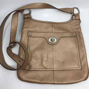 COACH Gloden Leather Crossbody Bag